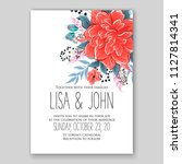 tropical floral wedding... | Shutterstock .eps vector #1127814341