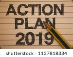 writing note showing  action... | Shutterstock . vector #1127818334