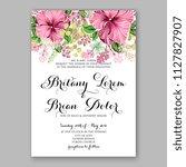 hibiscus hawaii wedding... | Shutterstock .eps vector #1127827907