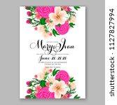 hibiscus hawaii wedding... | Shutterstock .eps vector #1127827994