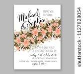 hibiscus hawaii wedding... | Shutterstock .eps vector #1127828054