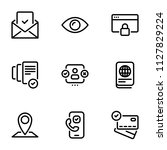 set of black vector icons ... | Shutterstock .eps vector #1127829224
