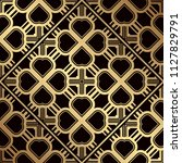 art deco pattern. seamless... | Shutterstock .eps vector #1127829791