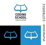 coding school logo concept.... | Shutterstock .eps vector #1127830511