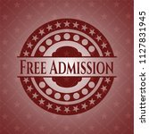 free admission red emblem.... | Shutterstock .eps vector #1127831945