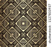 art deco pattern. seamless... | Shutterstock .eps vector #1127833937