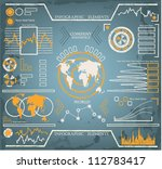 hand drawn info graphics set | Shutterstock .eps vector #112783417