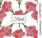 flower seamless pattern vintage ...   Shutterstock .eps vector #1127837519