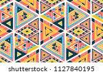 geometric folklore hipster... | Shutterstock .eps vector #1127840195