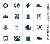 journey icons set with ticket ... | Shutterstock .eps vector #1127843861