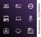 hardware icons line style set... | Shutterstock .eps vector #1127844041