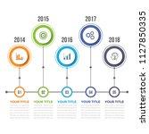 horizontal timeline... | Shutterstock .eps vector #1127850335