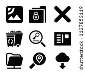 interface related set of 9... | Shutterstock . vector #1127853119