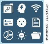 interface related set of 9... | Shutterstock . vector #1127853134