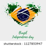 brazil independence day... | Shutterstock .eps vector #1127853947