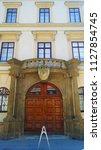 prague  czech republic july 4 ... | Shutterstock . vector #1127854745