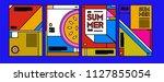 summer colorful poster design... | Shutterstock .eps vector #1127855054
