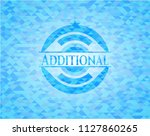 additional sky blue emblem with ... | Shutterstock .eps vector #1127860265