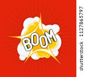 boom comic explosions template. ...   Shutterstock .eps vector #1127865797