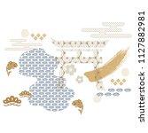japanese pattern vector. ocean  ...   Shutterstock .eps vector #1127882981
