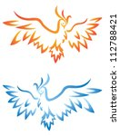 phoenix tattoo | Shutterstock .eps vector #112788421