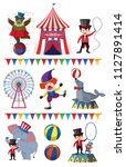 a set of circus element... | Shutterstock .eps vector #1127891414