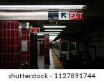 platform at tasker morris... | Shutterstock . vector #1127891744