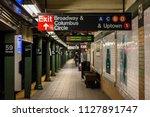 platform at the columbus circle ... | Shutterstock . vector #1127891747