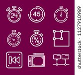 interface icon set   outline... | Shutterstock .eps vector #1127910989