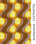 textile fashion african print... | Shutterstock .eps vector #1127919731