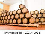 Wine Keg Barrels Stacked Keep...
