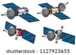 set of space satellite... | Shutterstock .eps vector #1127923655