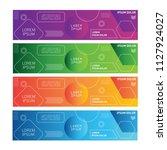banner design. web banner.... | Shutterstock .eps vector #1127924027