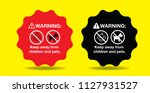 warning keep away from children ... | Shutterstock .eps vector #1127931527