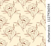 floral seamless pattern 2.... | Shutterstock . vector #1127936054