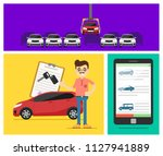 rent a cars and trading cars in ... | Shutterstock . vector #1127941889