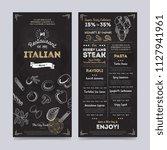 italian restaurant cafe menu... | Shutterstock . vector #1127941961