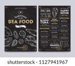 seafood restaurant cafe menu... | Shutterstock . vector #1127941967
