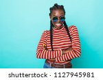colorful portrait of amazing... | Shutterstock . vector #1127945981