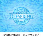 offspring realistic sky blue... | Shutterstock .eps vector #1127957114