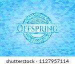 offspring realistic sky blue...   Shutterstock .eps vector #1127957114