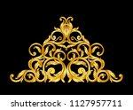 gold baroque vintage frame... | Shutterstock .eps vector #1127957711