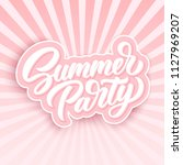 summer party retro hand... | Shutterstock .eps vector #1127969207