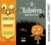 halloween happy horror party 9. | Shutterstock .eps vector #1127972807