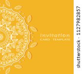 invitation or card template...   Shutterstock .eps vector #1127982857