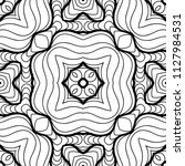 vector black white seamless... | Shutterstock .eps vector #1127984531