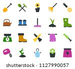 colored vector icon set  ... | Shutterstock .eps vector #1127990057