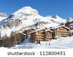 Mountain Ski Resort With Snow...