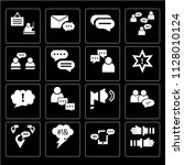 set of 16 icons such as... | Shutterstock .eps vector #1128010124