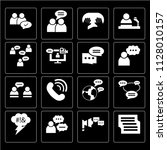 set of 16 icons such as... | Shutterstock .eps vector #1128010157